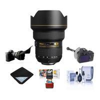 Image of Nikon 14-24mm f/2.8G ED-IF AF-S NIKKOR DSLR Lens - Bundle with Mac Pro Software Package, Flex Lens Shade, FocusShifter DSLR Follow Focus & Rack Focus, Lens Wrap (19x19), Cleaning Kit