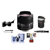 Image of Nikon 16mm f/2.8D ED AF NIKKOR Lens - USA Warranty - Bundle With Soft Lens Case, Lens Cleaning Kit, Flex Lens Shade, Cleaning Kit, Lens Cleaner - Cap Leash, Mac Software Package