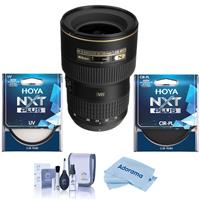 Image of Nikon 16-35mm F/4G AF-S NIKKOR ED VR Vibration Reduction Zoom Lens, Bundle With Hoya NXT Plus 77mm 10-Layer HMC UV Filter, HOYA 77mm NXT Circular Polarizer Filter, Cleaning Kit, Microfiber Cloth