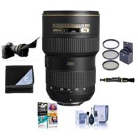 Compare Prices Of  Nikon 16-35mm F/4G AF-S NIKKOR ED VR Vibration Reduction Zoom Lens, Bundle With 77mm Filter Kit, Lens Wrap, Lens Shade, Clean Kit, Cleaner, PC Software Package