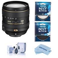 Image of Nikon 16-80mm f/2.8-4E AF-S DX NIKKOR EDIF (VR) Vibration Reduction Lens - Bundle With Hoya NXT Plus 55mm HMC UV Filter, Hoya NXT Plus 55mm HMC Circular Polarizer Filter, Cleaning Kit, Cloth