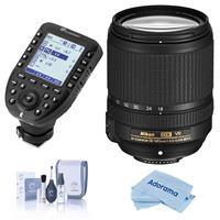 Image of Nikon 18-140mm f/3.5-5.6G ED AF-S DX NIKKOR (VR) Vibration Reduction Lens f/DSLR Cameras - U.S.A. Warranty - With Flashpoint R2 Pro MarkII 2.4GHz Transmitter for Nikon, Cleaning Kit, Microfiber Cloth