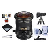 Image of Nikon PC NIKKOR 19mm f/4E ED Perspective Control Lens - U.S.A. Warranty - Bundle With Lens Wrap (19x19), Cleaning Kit, LensCoat RainCoat Rain Sleeve, Cleaner,Capleash II, Mac Software Package