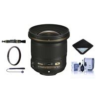 Image of Nikon 20mm f/1.8G AF-S ED NIKKOR Lens - U.S.A. Warranty - Bundle with 77mm UV Filter, Cleaning Kit, Lens Wrap (15x15), Cap Leash, Lens Cleaner