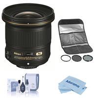 Image of Nikon 20mm f/1.8G AF-S ED NIKKOR Lens - U.S.A. Warranty - With HOYA 77MM Digital Filter Kit II (UV/CPL/ND8X), Cleaning Kit, Microfiber Cloth