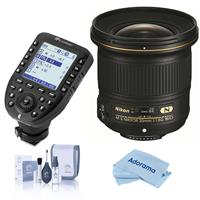 Compare Prices Of  Nikon 20mm f/1.8G AF-S ED NIKKOR Lens - U.S.A. Warranty - With Flashpoint R2 Pro MarkII 2.4GHz Transmitter for Nikon, Cleaning Kit, Microfiber Cloth