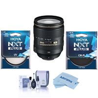 Image of Nikon 24-120mm f/4G ED-IF AF-S NIKKOR VR Vibration Reduction Lens - Bundle With Hoya NXT Plus 77mm 10-Layer HMC UV Filter, HOYA 77mm NXT Circular Polarizer Filter, Cleaning Kit, Microfiber Cloth