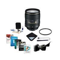 Image of Nikon 24-120mm f/4G ED-IF AF-S NIKKOR VR Lens - USA Warranty - Bundle with 77mm WA UV Filter, Lens Wrap, Flex Lens Shade, Cleaning Kit, Lens Cap Leash, Professional Software Package