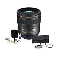 Image of Nikon 24mm f/1.4G AF-S ED NIKKOR Lens Kit - U.S.A. Warranty - Accessory Bundle with Tiffen 77mm Wide Angle Filter Kit, Digital Camera and Lens Cleaning Kit
