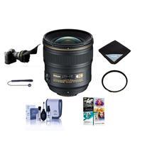 Image of Nikon 24mm f/1.4G AF-S ED NIKKOR Lens Bundle with Wide Angle UV Filter & PC Software