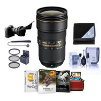 Image of Nikon AF-S NIKKOR 24-70mm f/2.8E ED VR Lens - U.S.A. Warranty - Bundle with 82mm Filter Kit, Flex Lens Shade, Lens Wrap (19x19), Cleaning Kit, Lens Cap Leash, Mac Software Package