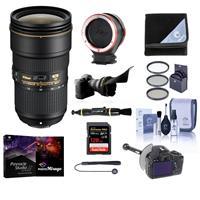 Image of Nikon AF-S NIKKOR 24-70mm f/2.8E ED VR Lens USA - Bundle with 82mm Filter Kit, Flex Lens Shade, FocusShifter DSLR Follow Focus, Peak Lens Changing Kit Adapter, Software Pack, 128GB SDXC Card, More