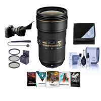 Image of Nikon AF-S NIKKOR 24-70mm f/2.8E ED VR Lens - U.S.A. Warranty - Bundle with 82mm Filter Kit, Flex Lens Shade, Lens Wrap (19x19), Cleaning Kit, Lens Cap Leash, Software Package