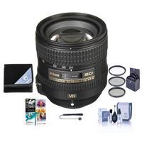 Image of Nikon 24-85mm f/3.5-4.5G ED AF-S VR NIKKOR Lens - USA Warranty - Bundle with 72mm Filter Kit - Lens Wrap (19x19) - Cleaning Kit - Lens Cap Leash - PC Software Package