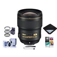 Image of Nikon 28mm f/1.4E AF-S NIKKOR Lens - U.S.A. Warranty - Bundle With 77mm Filter Kit, Cleaning Kit, Lens Wrap 15x15, Capleash II, PC Software Package