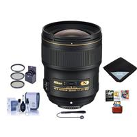 Image of Nikon 28mm f/1.4E AF-S NIKKOR Lens - U.S.A. Warranty - Bundle With 77mm Filter Kit, Cleaning Kit, Lens Wrap 15x15, Capleash II, Mac Software Package