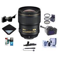 Image of Nikon 28mm f/1.4E AF-S NIKKOR Lens USA - Bundle With 77mm Filter Kit, Flex Lens Shade, FocusShifter DSLR Follow Focus, Cleaning Kit, Lens Wrap 15x15, Capleash II, Cleaner, Software Package