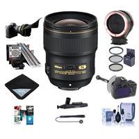Image of Nikon 28mm f/1.4E AF-S NIKKOR Lens USA - Pro Bundle With 77mm Filter Kit, Flex Lens Shade,FoocusShifter DSLR Follow Focus, LensAlign MkII Focus Calibration System, Peak Lens Changing Kit Adapter And More