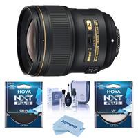 Image of Nikon 28mm f/1.4E AF-S NIKKOR Lens - U.S.A. Warranty - Bundle With Hoya NXT Plus 77mm 10-Layer HMC UV Filter, HOYA 77mm NXT Circular Polarizer Filter, Cleaning Kit, Microfiber Cloth