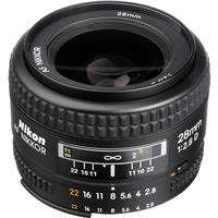 Image of Nikon 28mm f/2.8D AF NIKKOR Lens - U.S.A. Warranty