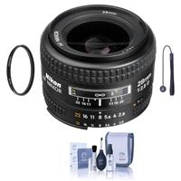 Image of Nikon 28mm f/2.8D ED AF NIKKOR Lens - U.S.A. Warranty - Accessory Bundle with 52mm UV Glass Filter, Lens Cap Leash, Lens Cleaning Kit