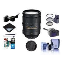 Image of Nikon 28-300mm f/3.5-5.6G ED-IF AF-S NIKKOR VR Lens - U.S.A. Warranty, Bundle with Filter Kit, Flex Lens Shade, DSLR Follow Focus & Rack, Cleaning Kit, Lens Cap, Lens Wrap, Cap Leash, Software Package