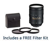 Image of Nikon 28-300mm f/3.5-5.6G ED-IF AF-S NIKKOR VR Lens - USA Warranty - Bundle with 77mm Filter Kit (UV/CPL/ND2), New Leaf 1 Year Drops & Spills Warranty