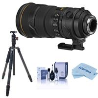 Image of Nikon 300mm f/2.8G ED-IF II AF-S VR-II NIKKOR Lens U.S.A. Warranty - WITH FotoPro X-Go Max Carbon Fiber Tripod with Built-In Monopod, FPH-62Q Ball Head, Cleaning Kit, Microfiber Cloth