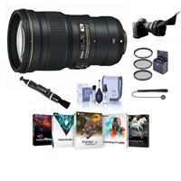 Image of Nikon 300mm f/4E PF ED VR AF-S NIKKOR Lens - USA Warranty - Bundle with 77mm Filter Kit (UV/CPL/ND2), Flex Lens Shade, Lens Cleaner, Cleaning Kit, Cap Leash, Pc Software Package
