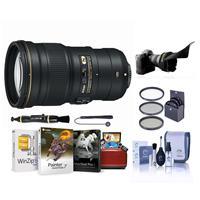 Image of Nikon 300mm f/4E PF ED VR AF-S NIKKOR Lens - USA Warranty - Bundle with 77mm Filter Kit (UV/CPL/ND2), Flex Lens Shade, Lens Cleaner, Cleaning Kit, Cap Leash, Mac Software Package