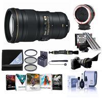Image of Nikon 300mm f/4E PF ED VR AF-S NIKKOR Lens USA - Bundle with 77mm Filter Kit, Flex Lens Shade, LENSALIGN MkII Focus Calibration System, Peak Lens Changing Kit Adapter, Software Package, And More