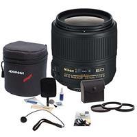 Image of Nikon 35mm f/1.8G AF-S ED NIKKOR Lens for DSLR Cameras - U.S.A. Warranty - Bundle with 58mm Filter Kit, New Leaf 3 Year (Drops & Spills) Warranty, Soft Lens Case, Cleaning Kit, Cap Leash