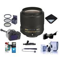 Image of Nikon 35mm f/1.8G AF-S ED NIKKOR Lens - Bundle with 58mm Filter Kit, Flex Lens Shade, FocusShifter DSLR Follow Focus, Lens Wrap, Cleaning Kit, Cap Leash, Cleaner, Software Package