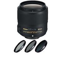 Image of Nikon 35mm f/1.8G AF-S ED NIKKOR Lens for DSLR Cameras - U.S.A. Warranty - Bundle with 58mm Filter Kit (UV/CPL/ND2), New Leaf 1 Year Drops & Spills Warranty