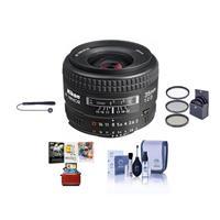 Image of Nikon 35mm f/2D AF NIKKOR Lens - USA Warranty - Accessory Bundle with 52mm Filter Kit (UV/CPL/ND2), Lens Cap Leash, Lens Cleaning Kit, Mac Software Package