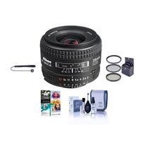 Image of Nikon 35mm f/2D AF NIKKOR Lens - USA Warranty - Accessory Bundle with 52mm Filter Kit (UV/CPL/ND2), Lens Cap Leash, Lens Cleaning Kit, Pro Software Package