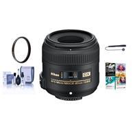 Image of Nikon 40mm f/2.8G AF-S DX Micro NIKKOR Lens USA Warranty - Bundle with 52mm UV Filter,Cleaning Kit, Lens Capleash, Pro Software