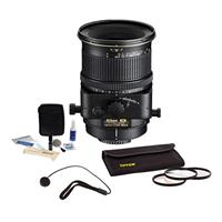 Image of Nikon 45mm f/2.8 Perspective Control-E NIKKOR MF Lens - USA Warranty - Accessory Bundle with 77mm Filter Kit, Lens Cap Leash, Professional Lens Cleaning Kit