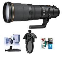 Image of Nikon 500mm f/4E AF-S NIKKOR FL ED VR Lens with U.S.A. Warranty - Bundle With Nikon C-PL405 40.5mm Slip-in CPL Filter, Cleaning Kit, Lens Cleaner, Software Package
