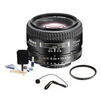 Image of Nikon 50mm f/1.4D AF NIKKOR Lens - U.S.A. Warranty - Accessory Bundle with 52mm UV Filter, Lens Cap Leash, Digital Camera and Lens Cleaning Kit