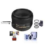 Image of Nikon 50mm f/1.4G AF-S NIKKOR Lens - USA. Warranty - Bundle with 58mm Filter Kit, Cleaning Kit, Lens Cap Leashm, Mac Software Package