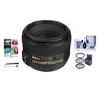 Image of Nikon 50mm f/1.4G AF-S NIKKOR Lens - USA. Warranty - Bundle with 58mm Filters, Cleaning Kit, Lens Cap Leash, Pro Software Package