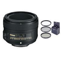 Image of Nikon 50mm f/1.8G AF-S NIKKOR Lens - Nikon U.S.A. Warranty with Free 58mm Filter Kit (UV/CPL/ND2)