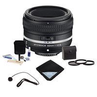 Compare Prices Of  Nikon AF-S NIKKOR 50mm f/1.8G Special Edition Lens - Bundle with Pro 58mm Digital Essentials Filter Kit, Cleaning Kit, Lens Cap Leash, Pro-Optic Lens Wrap (15x15)