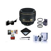 Image of Nikon 58mm f/1.4G AF-S NIKKOR Lens U.S.A. - Bundle with 72mm Filter Kit, Cleaning Kit, Lens Wrap, Cap Leash, Flex Lens Shade, Mac Software Package