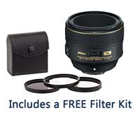 Image of Nikon 58mm f/1.4G AF-S NIKKOR Lens - U.S.A. Warranty - Bundle with 72mm Filter Kit (UV/CPL/ND2), New Leaf 1 Year Drops & Spills Warranty