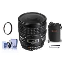 Image of Nikon 60mm f/2.8D AF Micro-NIKKOR Telephoto Auto Focus Lens - U.S.A. Warranty - Bundle With Lens Pouch, 62mm UV Filter, Cleaning Kit, Capleash II