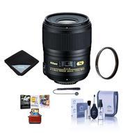 Image of Nikon 60mm f/2.8G AF-S Micro NIKKOR AF ED Lens - USA. Warranty - Bundle With 62mm UV Filter, Lens Cap Leash, Cleaning Kit, Lens Wrap (15x15) - Mac Software Package
