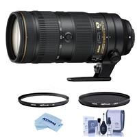 Image of Nikon AF-S NIKKOR 70-200mm f/2.8E FL ED VR Lens - U.S.A. Warranty - Bundle With Hoya NXT Plus 77mm 10-Layer HMC UV Filter, HOYA 77mm NXT Circular Polarizer Filter, Cleaning Kit, Microfiber Cloth