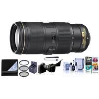 Image of Nikon 70-200mm f/4G ED AF-S VR Zoom NIKKOR Lens - USA Warranty - Bundle with 67mm Filter Kit, Flex Lens Shade, Cleaning Kit, Lens Cap Leash, Lens Wrap, PC Software Package